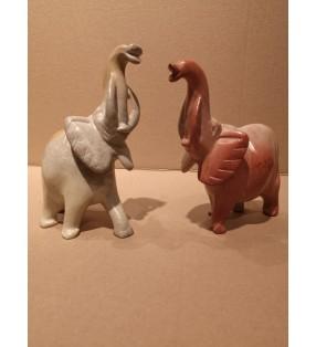 Tabaka Chigware Natural Hand Carved Kisii Soapstone Elephant Sculpture