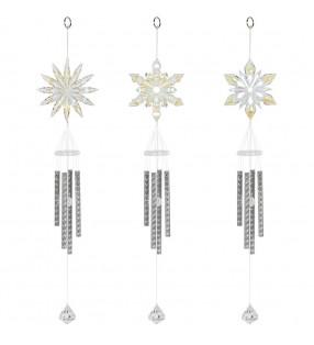 Beautiful Acrylic Snowflake Design Wind Chimes