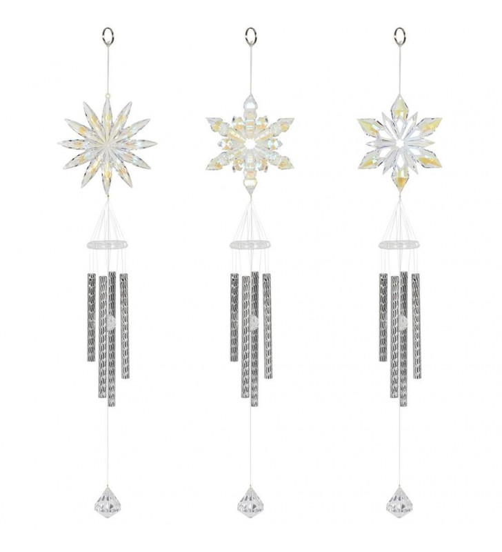 Beautiful Acrylic Snowflake Design Wind Chimes