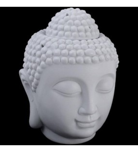 Ceramic White Thai Buddha Oil Burner.