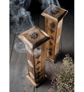 Fair Trade Namaste Scents Mango Wood Incense Tower And Incense Sticks