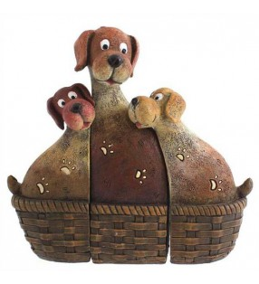 Dogs in Baskets.
