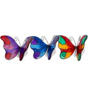 Beautiful Windhorse Ethically Sourced Colourful Acrylic Butterfly Window Suncatcher
