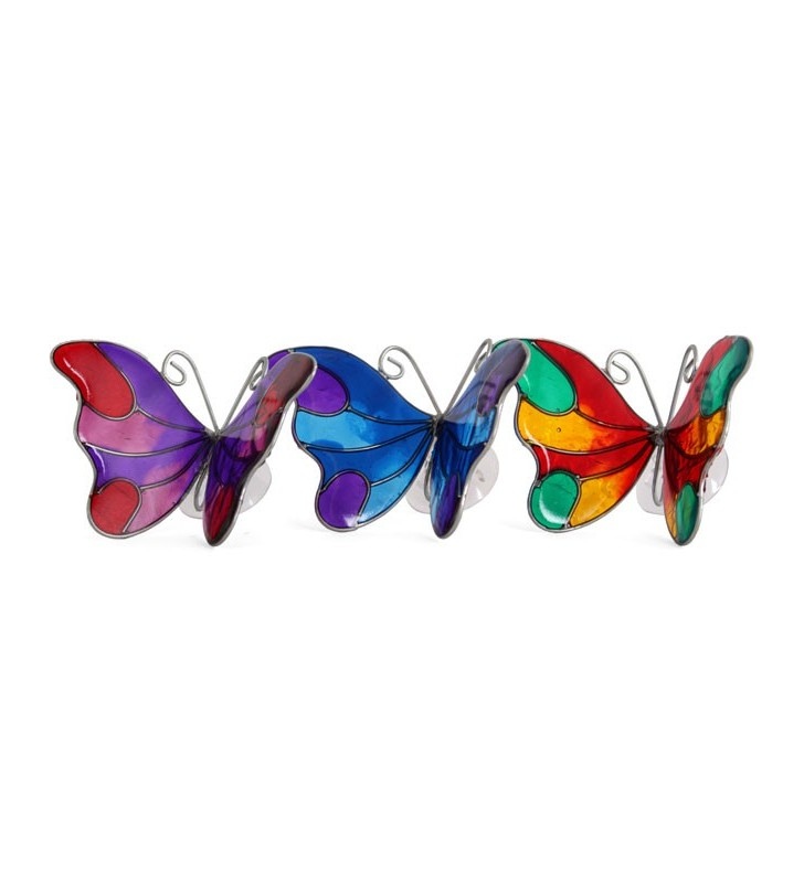 Beautiful Ethically Sourced Stained Glass Butterfly Window Suncatcher