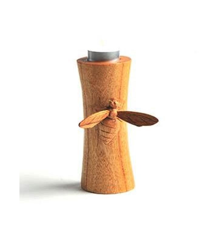 Fair Trade Hand Carved Bee Tea light holder.