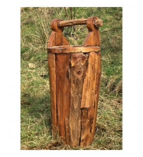 Fair Trade Solid Teak Root Umbrella Stand / Planter