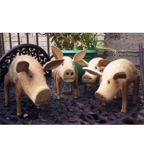 Bamboo Root & Teak Piggies.