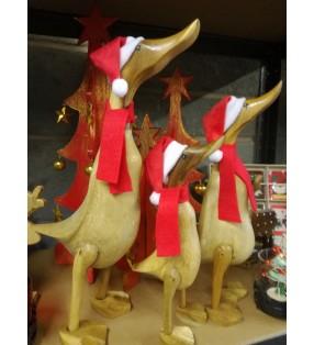 Family of Three Fair Trade Christmas Bamboo Root Ducks
