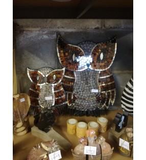 Fair Trade Mosaic Owl Wall Art Sculpture