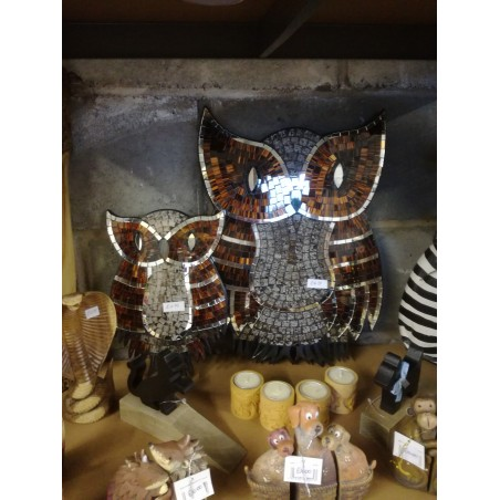 Fair Trade Mosaic Owl Wall Art Sculpture