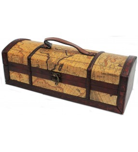 Vintage Level Map Design Wine Box Casket