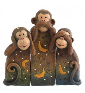 Hear no Evil Monkey Family