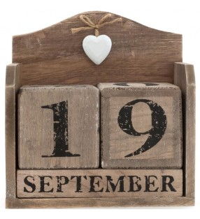 Large Ethically Sourced Rustic Driftwood, Shabby Chic perpetual calendar.