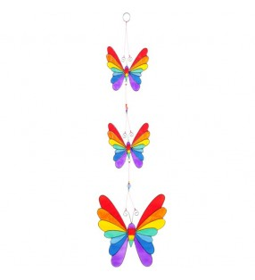 Beautiful Ethically Sourced Stained Rainbow Butterfly  Suncatcher