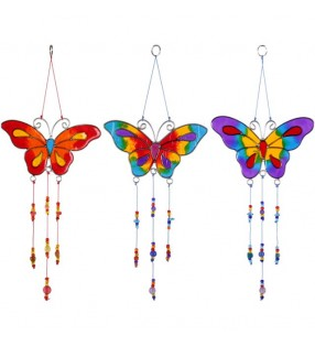 Beautiful Ethically Sourced Rainbow Butterfly Suncatcher