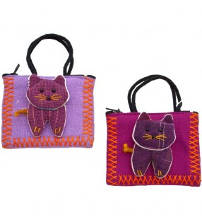 Cute Ethically Sourced Fabric Pussy Cat Purse