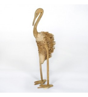 XL Fair Trade Bamboo Root and Teak Heron