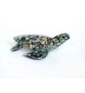 Fair Trade Paua Abalone Shell Turtle Statue