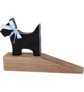 Scotty Dog Driftwood Door Stop