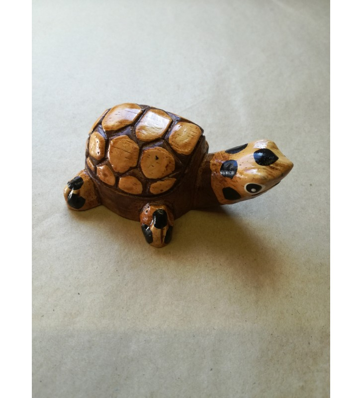 Fair Trade Wooden Carved Tortoise Turtle