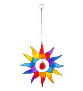 Beautiful Fair Trade Rainbow Acrylic Multi Sun Suncatcher