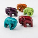 Fair Trade High Gloss Elephant in Foil Enamel Recycled Aluminium Small