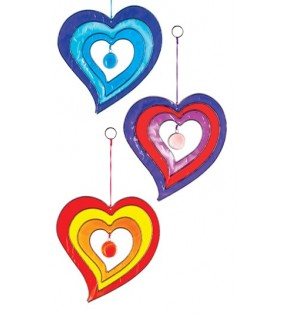 Windhorse Ethically Sourced Colourful Acrylic Single Heart Suncatcher