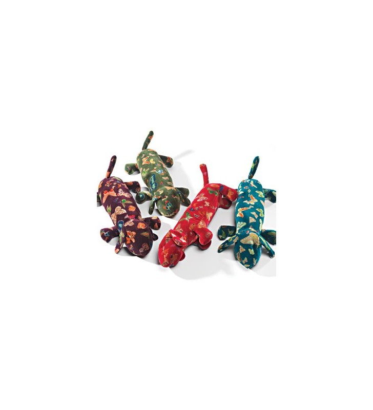 Fair Trade Butterfly Print Velvet Dog Design Draught Excluder