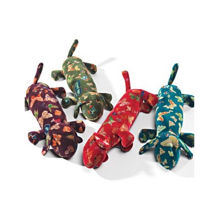 Fair Trade Butterfly Print Velvet Dog Design Draught Excluder
