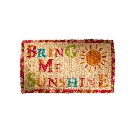 "Colourful Fair Trade ""Bring Me Sunshine"" Coconut Fibre Coir doormat"
