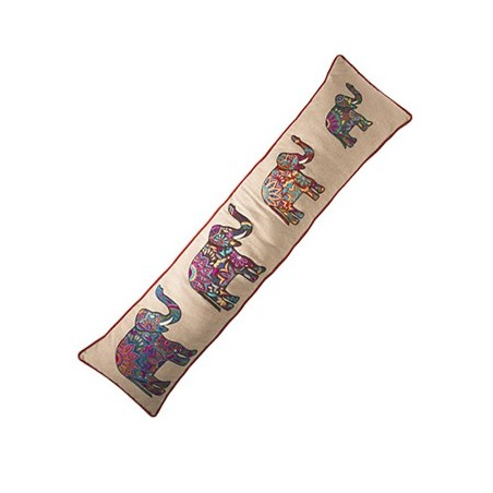Colourful Fair Trade Four Elephants Draught Excluder