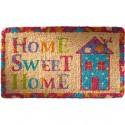 "Colourful Fair Trade ""Home Sweet Home"" Coconut Fibre Coir doormat"