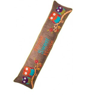 Colourful Fair Owl Design Home Sweet Home Draught Excluder
