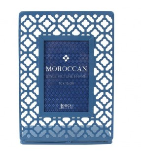 Ethically Sourced Blue Moroccan Style Laser Cut Picture Frame