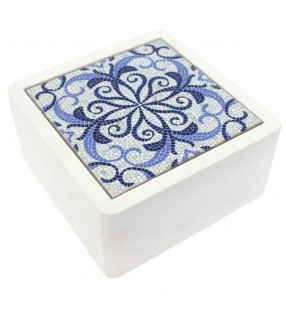 Ethically Sourced Blue Moroccan Style Trinket Box