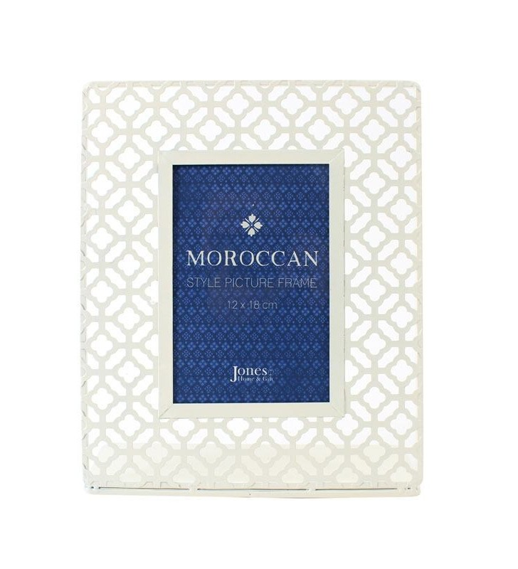 Ethically Sourced Cream Moroccan Style Laser Cut Picture Frame