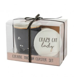 Crazy Cat Lady Ceramic Mug and Coaster Set