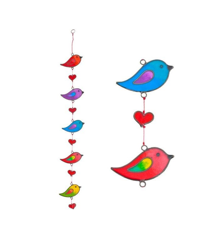 Beautiful Ethically Sourced Rainbow Birds  Suncatcher