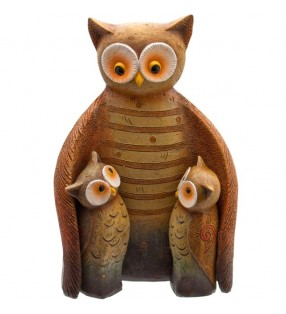 Resin Owl Family