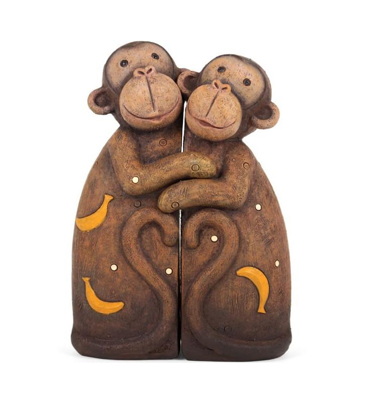 Resin Monkey Pair