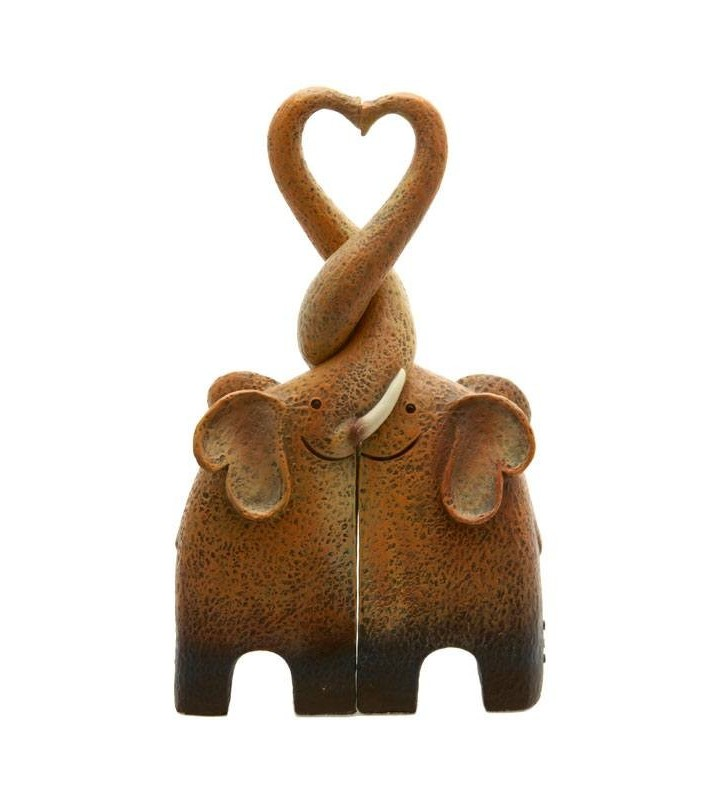 Ethically Sourced Resin Entwined Elephant Heart