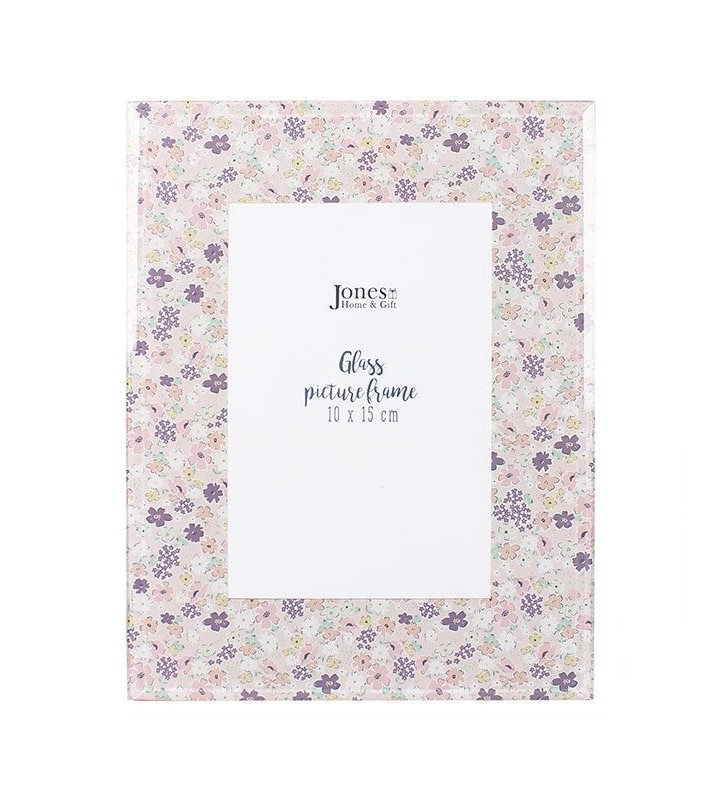 Ethically Sourced Standing Glass Florella Picture Frame 10 x 15