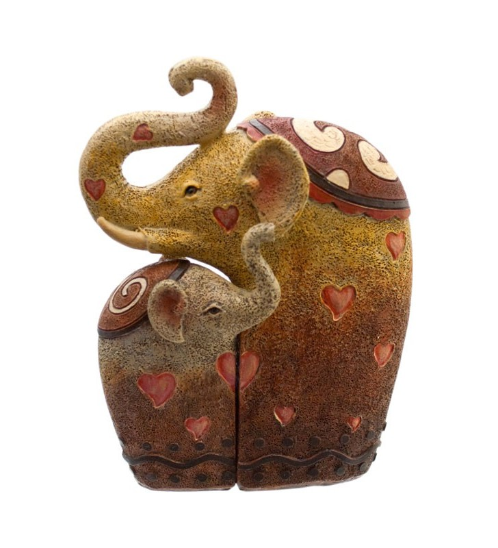 Cute Resin Mother and Baby Elephant
