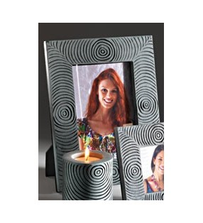 Fair Trade Grey and Black Palewa Soapstone Picture Frame