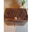 Fair Trade Indian Mango Wood Sliding Jewellery Box