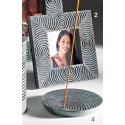 Fair Trade Grey and Black Palewa Soapstone Picture Frame Small