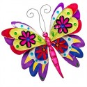 Small Fair Trade Handmade Wall Hanging Metal Capiz Butterfly