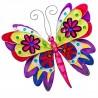 Small Fair Trade Handmade Wall Hanging Metal Capiz Butterfly