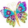 Large Fair Trade Handmade Wall Hanging Metal Capiz Butterfly