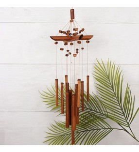 Beautiful Ethical Handmade Bamboo Beaded Windchime